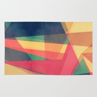 be happy Area & Throw Rugs featuring Happy by VessDSign