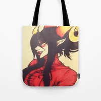 homestuck Tote Bags featuring Witch of Time by Lokyism