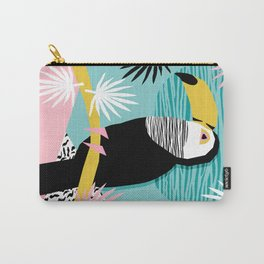 Loopy - wacka designs abstract bird toucan tropical memphis throwback retro neon 1980s style pop art Carry-All Pouch
