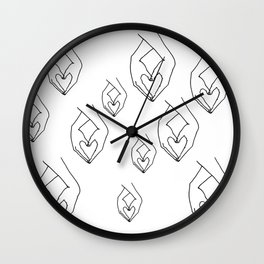 Hearts and Hands Wall Clock