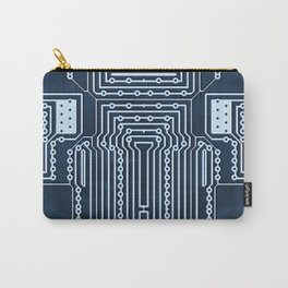 Blue Geek Motherboard Circuit Pattern Carry-All Pouch