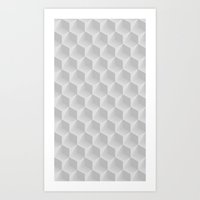 honeycomb Art Prints featuring Honeycomb by Screen Candy