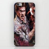 evil dead iPhone & iPod Skins featuring Ash Evil Dead by John Mungiello