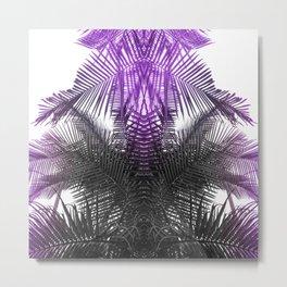 purple gray fern Metal Print