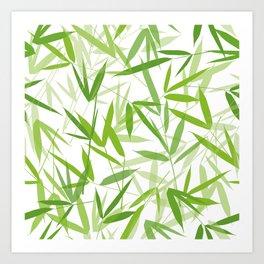 Bamboo Leaves Art Print