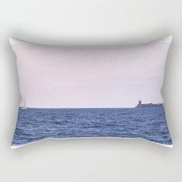Ship at sea Rectangular Pillow