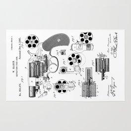 1881 Revolver Patent  Rug