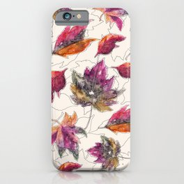 Maple Pattern iPhone Case