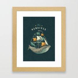 Whale   Petrol Grey Framed Art Print