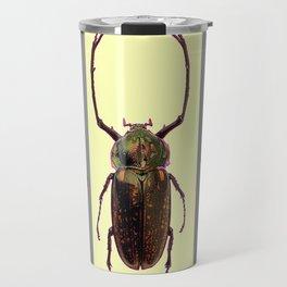 BEETLES ON CREAM & GREY  ABSTRACT ART Travel Mug