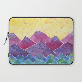 Bright and Colorful Landscape Painting / Boho Chic Decor Laptop Sleeve