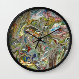Abstract Oil Painting 12 Wall Clock