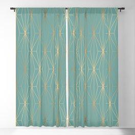 ELEGANT BLUE GOLD PATTERN v3 Blackout Curtain
