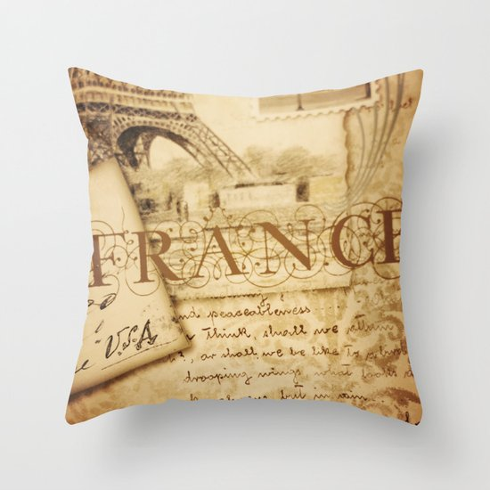 I ♥ France Throw Pillow