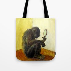 Monkey in the Mirror Tote Bag