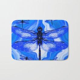 DRAGONFLY BLUE AGATE Bath Mat