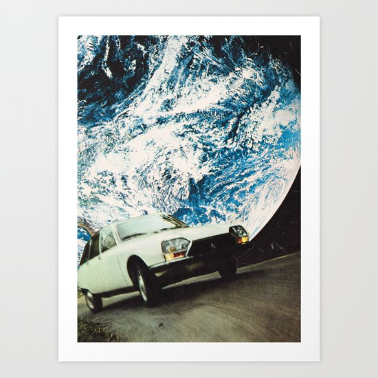 Space car Art Print