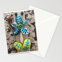 Yellow Rock Flower Stationery Cards
