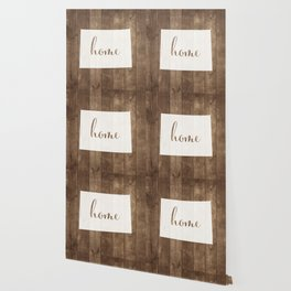 Colorado is Home - White on Wood Wallpaper