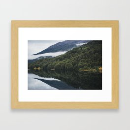 Reflections on Still Patagonia Lake Lonconao Water Framed Art Print