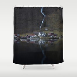 River that vanishes (Fjord) Shower Curtain