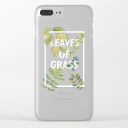 Leaves of Grass, Walt Whitman, book cover illustration, american poetry collection, flowers art Clear iPhone Case