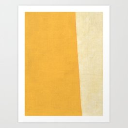 Yellow White Art Print