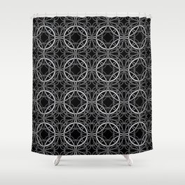 Rondo Black Shower Curtain