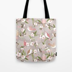 Blossom and birds Tote Bag