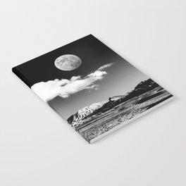 Black Desert Sky & Moon // Red Rock Canyon Las Vegas Mojave Lune Celestial Mountain Range Notebook