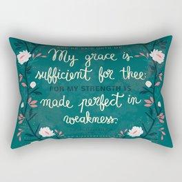 2 Corinthians12:9 Rectangular Pillow