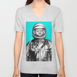 "JFK ASTRONAUT (or ""All Systems Are JFK"") Unisex V-Neck"