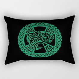 Celtic Nature Polar Bear Rectangular Pillow