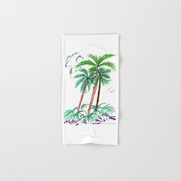 """Triplet Palms"" Hand & Bath Towel"