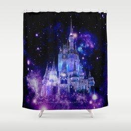 Celestial Palace : Purple Blue Enchanted Castle Shower Curtain