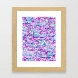 Fervor (Turquoise)  Framed Art Print