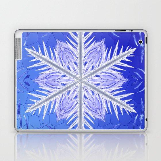 Snowflake Pattern - Bladed Sky Laptop & iPad Skin