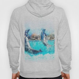Dolphin Jump Playing Hoody