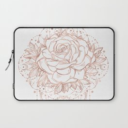 Mandala Lunar Rose Gold Laptop Sleeve
