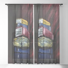Books Of Knowledge Sheer Curtain