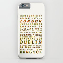 Travel World Cities iPhone Case