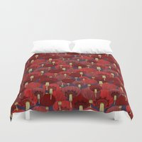 chinese Duvet Covers featuring Chinese Lanterns by Deborah Panesar Illustration