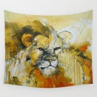 predator Wall Tapestries featuring The Predator by Irina Rumyantseva
