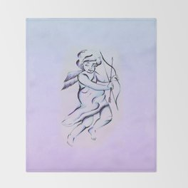 Angel of Love Throw Blanket