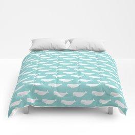 Turquoise beluga pattern Comforters