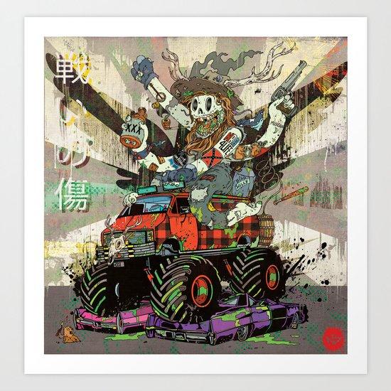 Battlescar Biggles Art Print