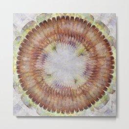 Zain Content Flowers  ID:16165-074458-48710 Metal Print