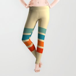 Ienao - Classic 70s Retro Stripes Leggings
