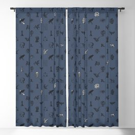 House of the Wise - Pattern II Blackout Curtain
