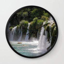 Krka National Park waterfalls Wall Clock